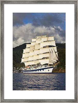 At Full Sail Framed Print by Jon Glaser