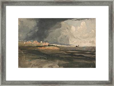 At Hailsham, Sussex - A Storm Approaching Framed Print by Samuel Palmer