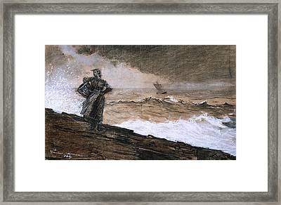 At High Sea Framed Print by Winslow Homer