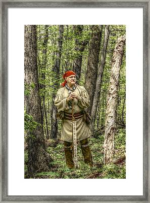 At Home In The Forest Framed Print by Randy Steele