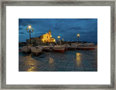 At Night On The Pier Framed Print by Andrey Bo