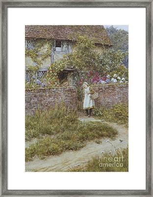 At Sandhills Framed Print by Helen Allingham