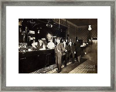 At The Bar Framed Print by Jon Neidert