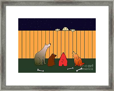 At The Bad Time On The Bad Place Framed Print by Michal Boubin