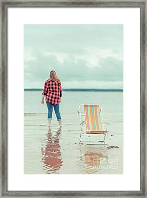 At The Beach New London Prince Edward Island Framed Print by Edward Fielding