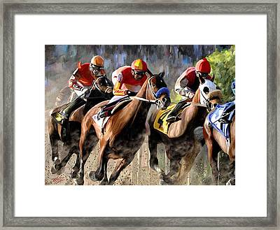At The Bend Framed Print by James Shepherd