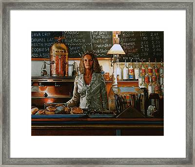 At The Coffee Mill Framed Print by Doug Strickland