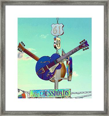 At The Crossroads Framed Print by Karen Wagner