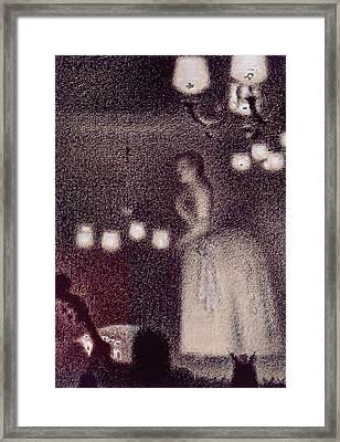 At The Eden Concert Framed Print by Georges Pierre Seurat
