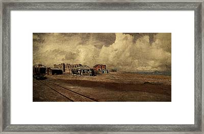 At The Edge Of Time Framed Print by Jeff Burgess