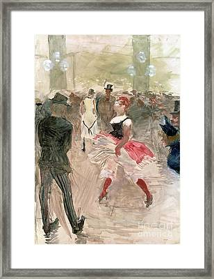 At The Elysee Framed Print by Henri de Toulouse