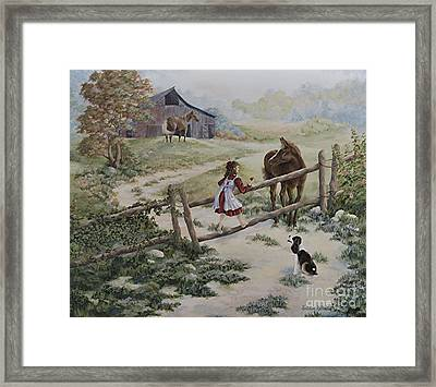 At The Farm Framed Print by Kathleen Keller