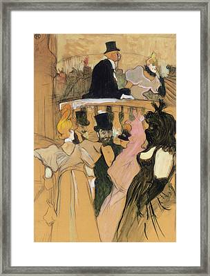 At The Opera Ball Framed Print by Henri de Toulouse-Lautrec