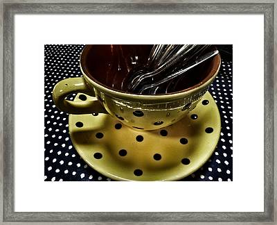 At The Polka Dotty Cafe  Framed Print by Connie Handscomb