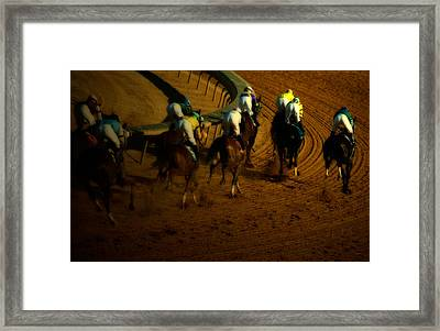 At The Race Track Framed Print by Steven  Digman