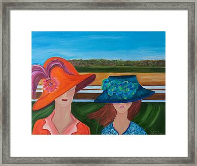 At The Races Framed Print by Dani Altieri Marinucci
