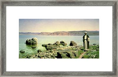 At The Sea Of Galilee Framed Print by Vasilij Dmitrievich Polenov