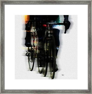 At The Speed Of Harmony Framed Print by Steven  Digman
