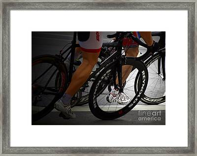At The Speed Of Strength Framed Print by Steven  Digman