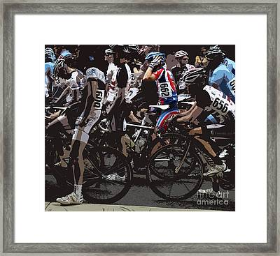 At The Starting Gate Framed Print by Steven  Digman