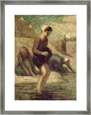 At The Water's Edge Framed Print by Honore Daumier