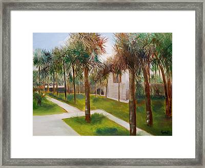 Atalaya Huntington Beach Sc Framed Print by Phil Burton