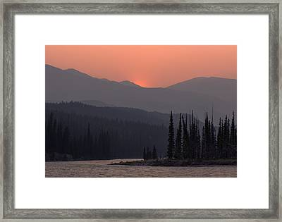 Athabasca River Layers Framed Print by Cale Best