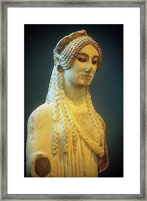 Athenian Kore Framed Print by Andonis Katanos