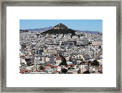Athens City View Framed Print by John Rizzuto