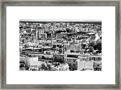 Athens Cityscape I Framed Print by John Rizzuto