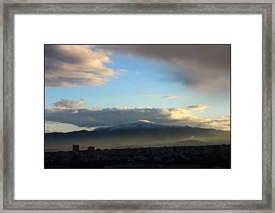 Athens Sunrise Framed Print by Julia Bridget Hayes