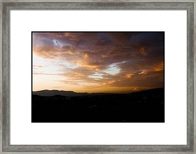 Athens Sunset Framed Print by Julia Bridget Hayes