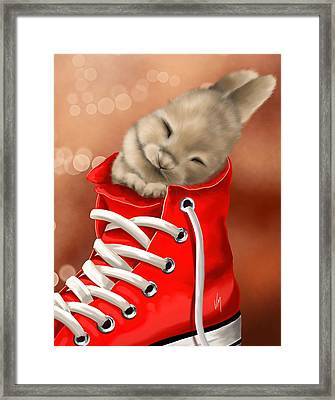 Athletic Rest Framed Print by Veronica Minozzi