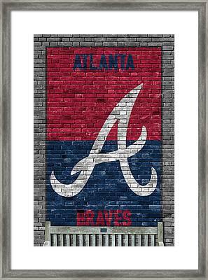 Atlanta Braves Brick Wall Framed Print by Joe Hamilton
