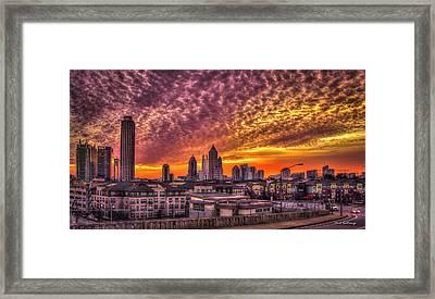 Atlanta Midtown Atlantic Station Sunrise Framed Print by Reid Callaway