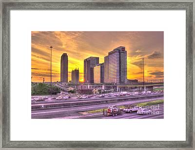 Atlanta Midtown Atlantic Station Sunset Framed Print by Reid Callaway