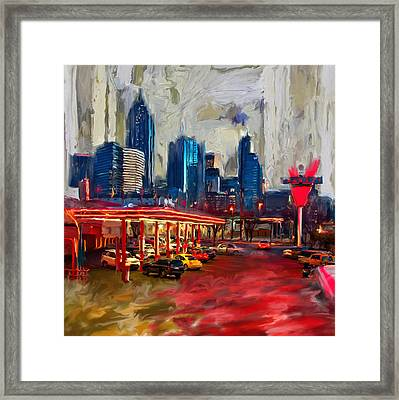 Atlanta Skyline 231 1 Framed Print by Mawra Tahreem