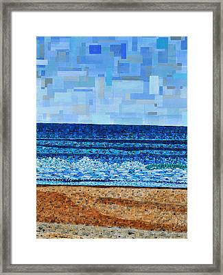 Atlantic Beach In July Framed Print by Micah Mullen