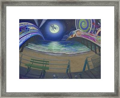 Atlantic City Time Warp Framed Print by Suzn Smith