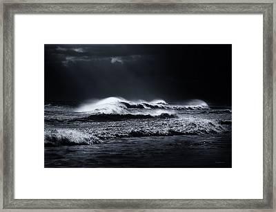 Atlantic Ocean Framed Print by Dapixara Art