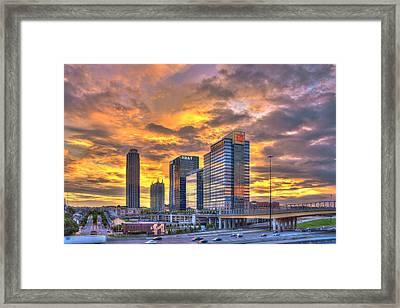 Atlantic Station Reflective Beauty Atlanta Framed Print by Reid Callaway