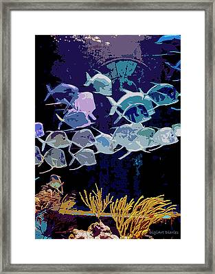 Atlantis Aquarium Framed Print by DigiArt Diaries by Vicky B Fuller