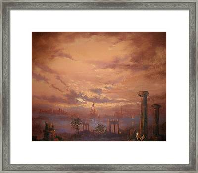 Atlantis Faded Glory Framed Print by Tom Shropshire