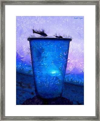 Atomic Ant - Da Framed Print by Leonardo Digenio