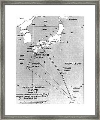 Atomic Bombing Of Japan, 1945 Framed Print by Science Source