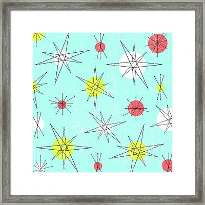 Atomic Era Planets Framed Print by Kenny Wright