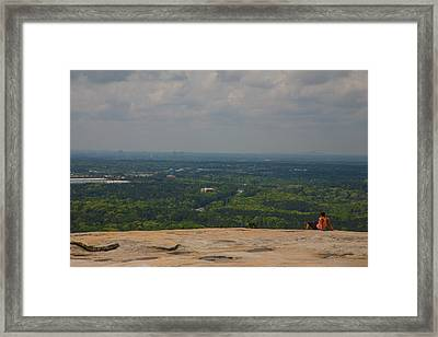 Atop Of Stone Mountain Framed Print by Karol Livote
