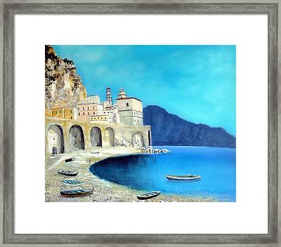 Atrani Italy Framed Print by Larry Cirigliano