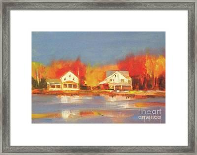 Atsion Lake Framed Print by Mary Hubley