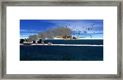 Attack On Force Z  Framed Print by Ken Thompson